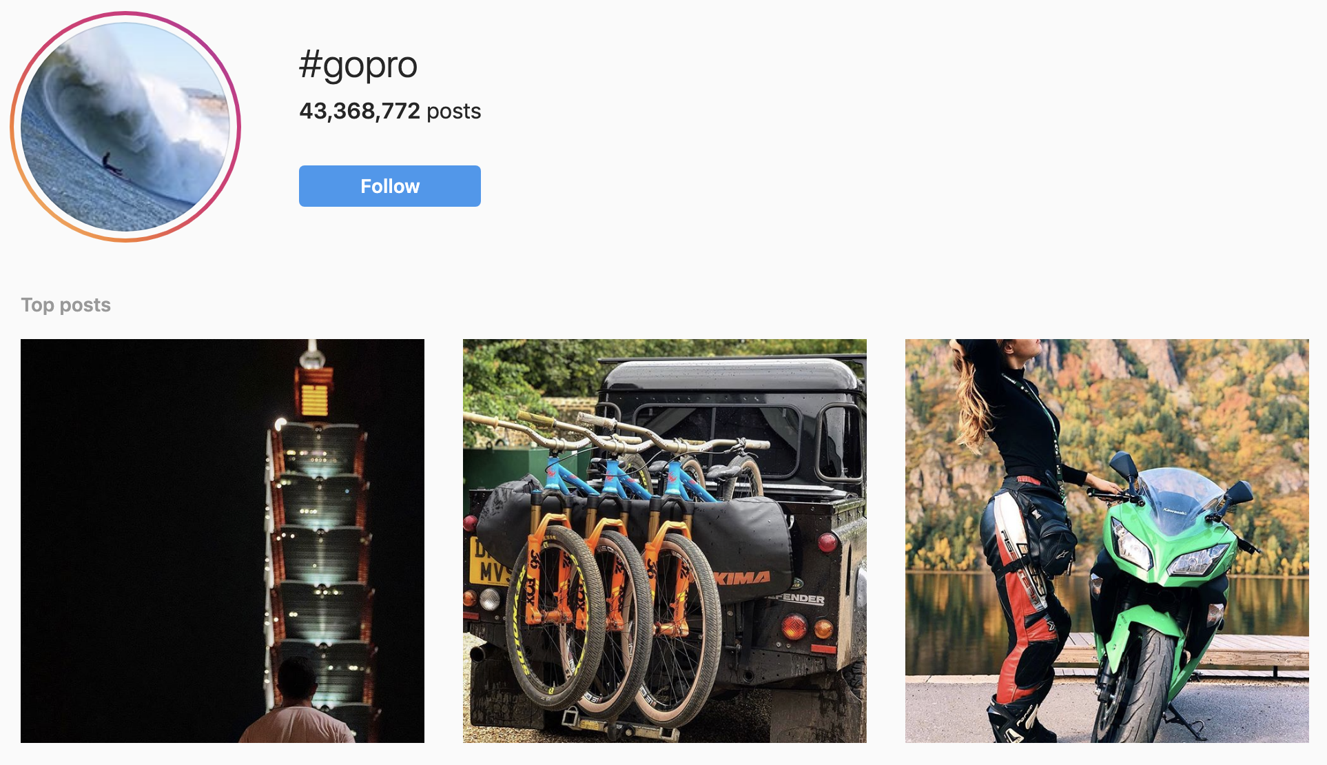 GoPro IG Tag